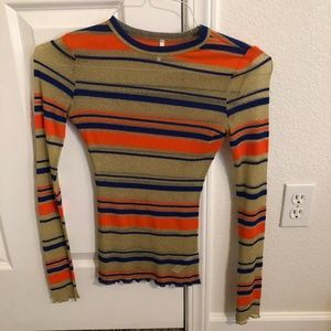 Out From Under Glitter Ribbed Long Sleeve Top